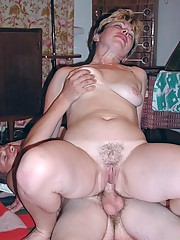 Plump granny having her wet hole pounded